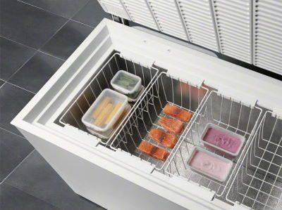 Alimente in lada frigorifica
